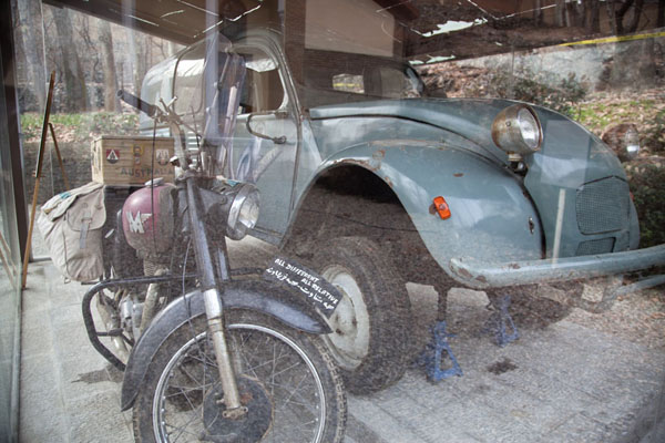 Picture of The 2CV car used by the Omidvar Brothers for part of their travels around the worldTehran - Iran