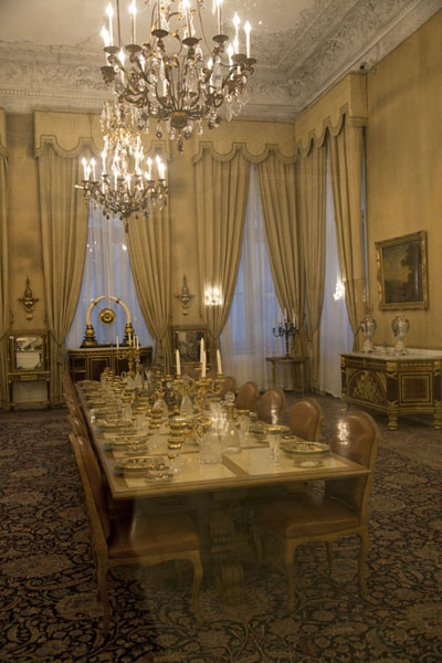 One of the dining rooms of the White Palace | Sa'd Abad Museum Complex | Iran