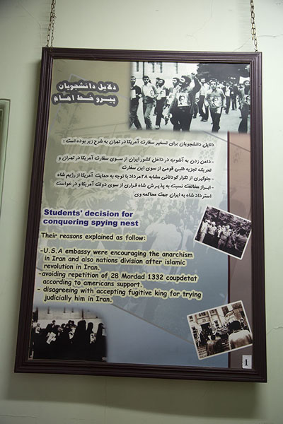 Foto de Explanation of the reasons why the students attacked the embassyTeherán - Irán