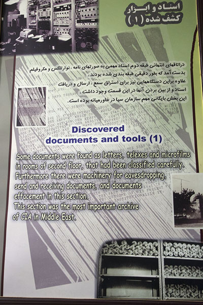 Foto de Explanations about the instruments found in the embassyTeherán - Irán