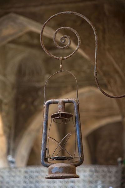 Foto van Lantern inside the shrine of the prophet NahumAl Qosh - Irak
