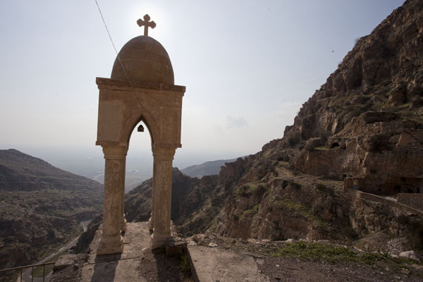 Foto di Looking south and down from the Rabban Hermizd MonasteryAl Qosh - Iraq