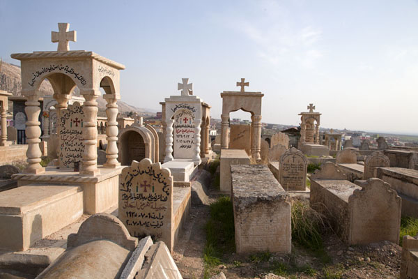 Some of the tombs at the cemetery in Al Qosh village | Al Qosh | 伊拉克共和国