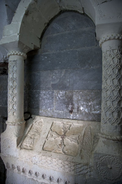 Picture of Grave in one of the caves behind the main church of the Rabban Hermizd Monastery