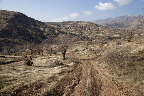 Picture of View of the landscape surrounding Amedi from one of the dirt tracks