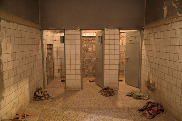 Picture of Lavatories that were also used as isolation cells in Amna Suraka prisonSulaymaniyah - Iraq