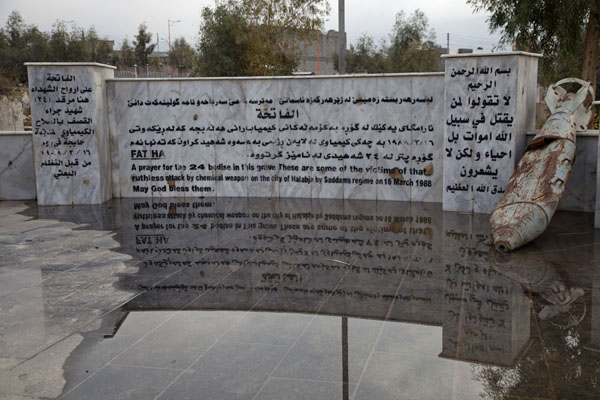 Foto van One of the mass graves of HalabjaHalabja - Irak
