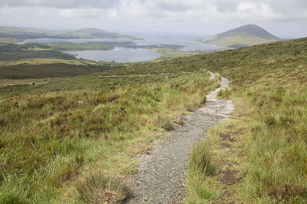 Trail at lower altitude on the slopes of Diamond Hill | Connemara National Park | Irlande