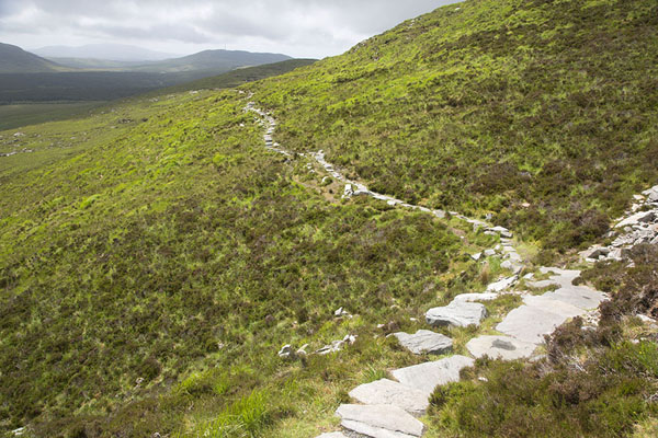 Picture of Connemara National Park (Ireland): Trail at the base of Diamond Hill