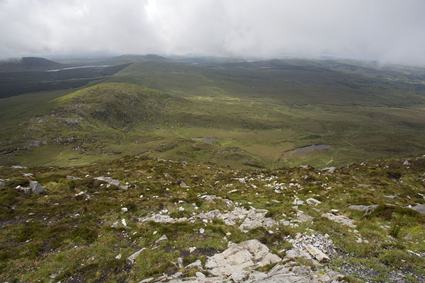 Foto van View from the top of Diamond HillConnemara - Ierland