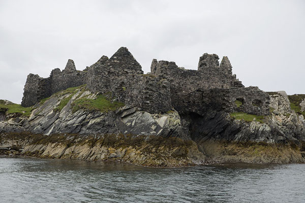 Picture of Ruins of Cromwells fort at the entrance of Inishbofin harbour - Ireland - Europe