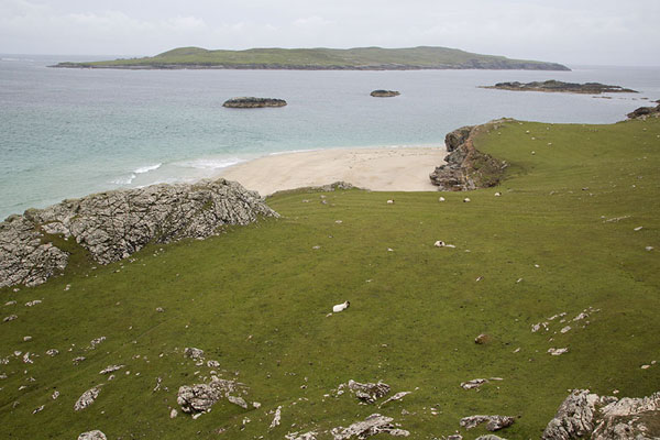 Foto di Rocky west coast of Inishbofin with beach - Irlanda - Europa