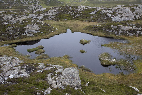 Foto van Small lake in the higher parts of the islandInishbofin - Ierland