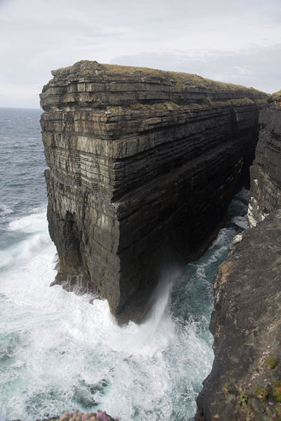 Picture of Rocky islet off the tip of Loop Head peninsula receives the full force of Atlantic waves and features in several legendsLoop Head - Ireland