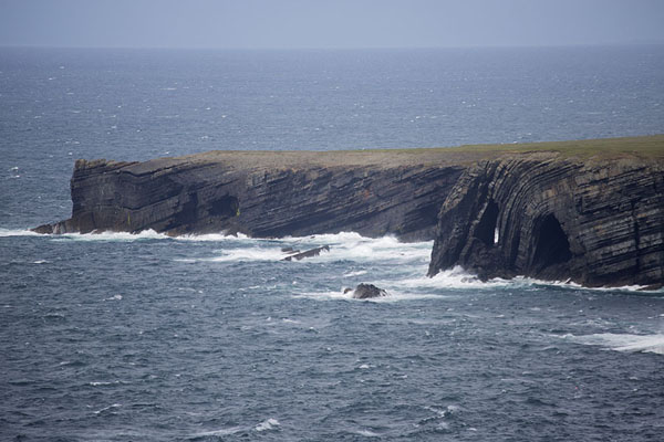 Picture of The oceanic side of Loop Head peninsula has some spectacular black layered rock scenery - Ireland - Europe