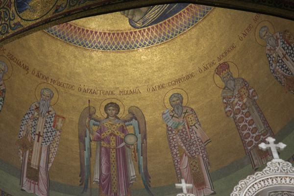 Mosaic in a dome of the Church of the Holy Sepulchre - 以色列