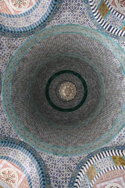 Picture of Looking up the ceiling of the Dome of the ChainJerusalem - Israel