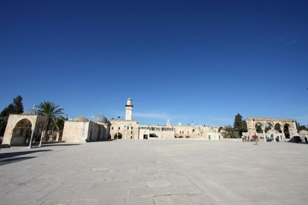 Picture of Haram ash-Sharif or Temple Mount on which the Dome of the Rock can be found