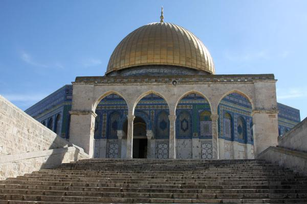 Stairs leading to the Dome of the Rock - 以色列