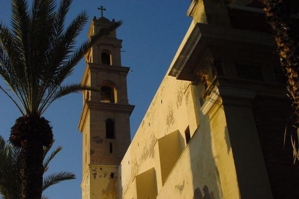 Afternoon sun reflected on the church wall | Jaffa | Israel