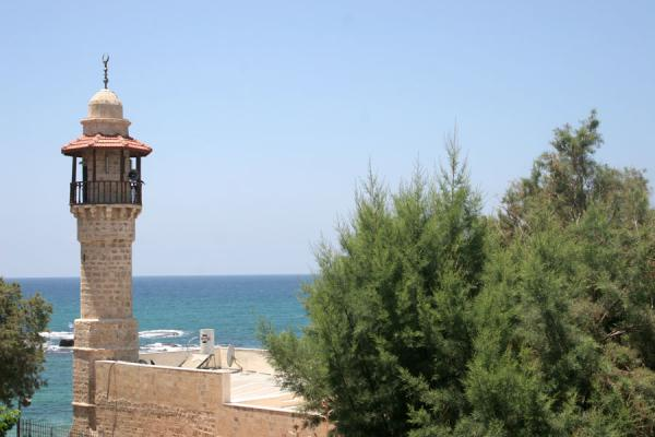 Picture of Jaffa: mosque looking out over the turquoise Mediterranean Sea