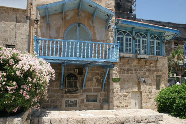 Picture of Jaffa (Israel): House in Jaffa with blue balcony