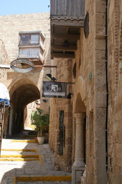 Foto de Alley with galleries in JaffaYaffa - Israel