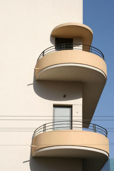 Photo de Detail of typical Neve Tzedek buildingTel Aviv - Israël