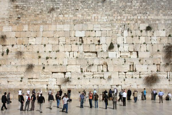 Foto di Frontal view of the Western WallMuro occidentale - Israele