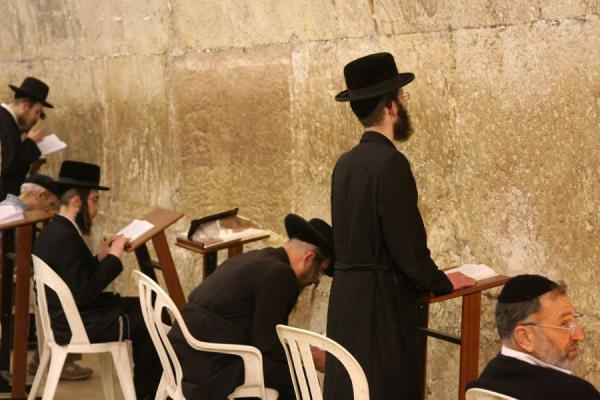 Picture of Western Wall (Israel): Saying a prayer at the Western Wall