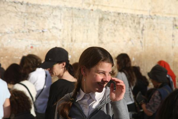 Foto di Girl at the women section of the Western WallMuro occidentale - Israele