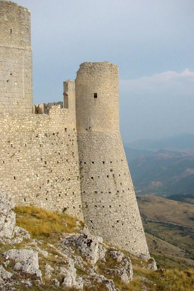 Part of a castle on top of a mountain | Abruzzo Landscape | Italy