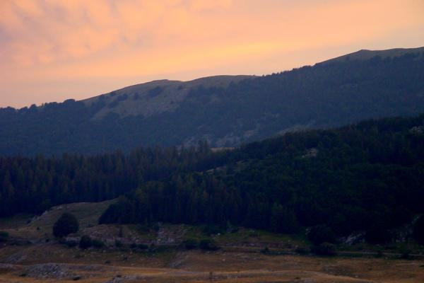 Picture of Abruzzo Landscape (Italy): Abruzzo landscape before sunset