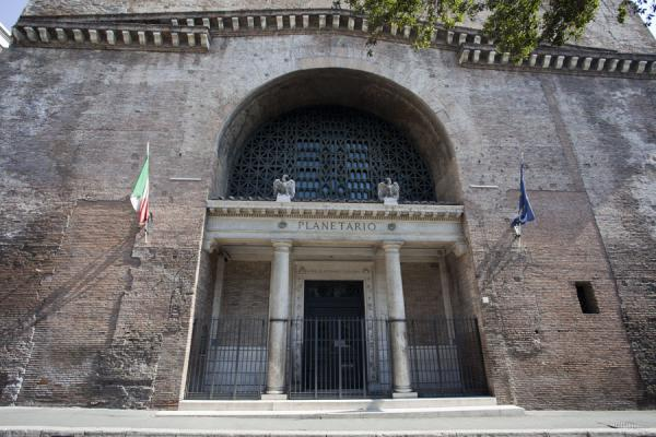 Picture of One of the remaining buildings of the Diocletian Baths, the Aula Ottagona now is a museum