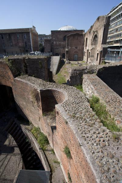 Ruins of the enormous complex of the Baths of Diocletian | Termen van Diocletianus | Italië