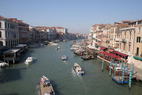 Picture of Canal Grande (Italy): View over Canal Grande from the Rialto Bridge: looking towards the South West