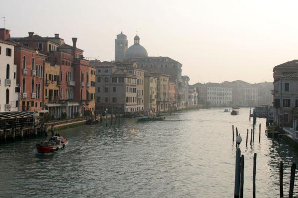 Canal Grande in the early morning, near the railway station | Canal Grande | Italy