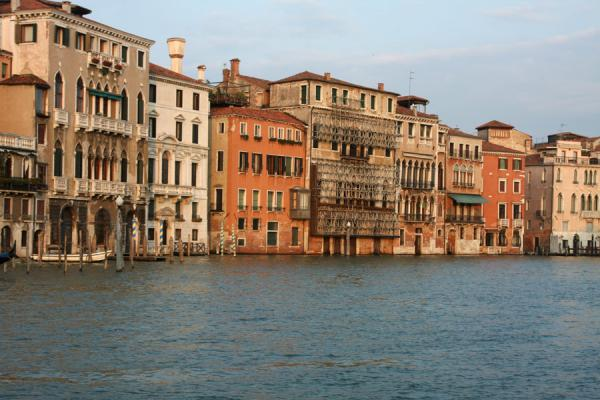 Picture of Canal Grande (Italy): Early evening light on palazzi on the Canal Grande