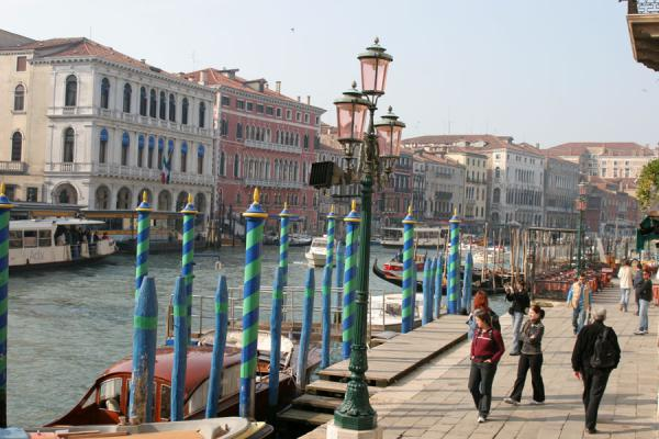 Picture of Canal Grande (Italy): Strolling on the Canal Grande near the Rialto Bridge