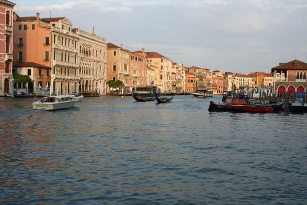 Picture of Canal Grande (Italy): Canal Grande before sunset