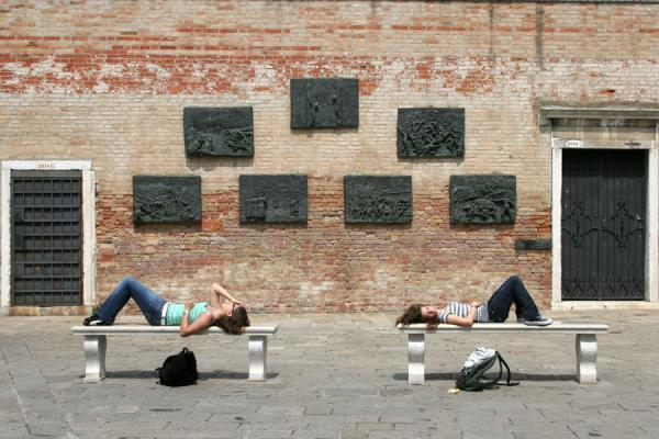 Girls taking a break on the Campo Ghetto Nuovo | Cannaregio | Italy