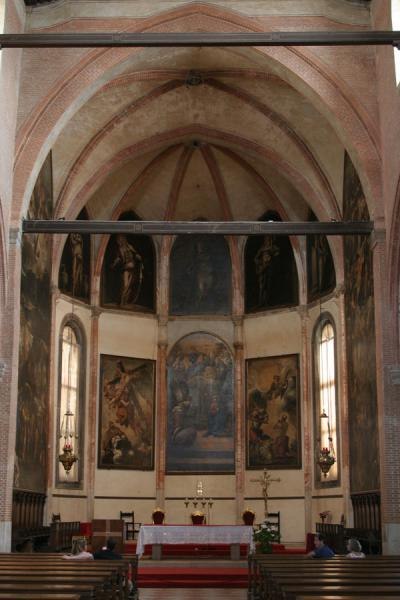 Interior of Madonna dell'Orto church with some of Tintoretto's paintings | Cannaregio | Italy