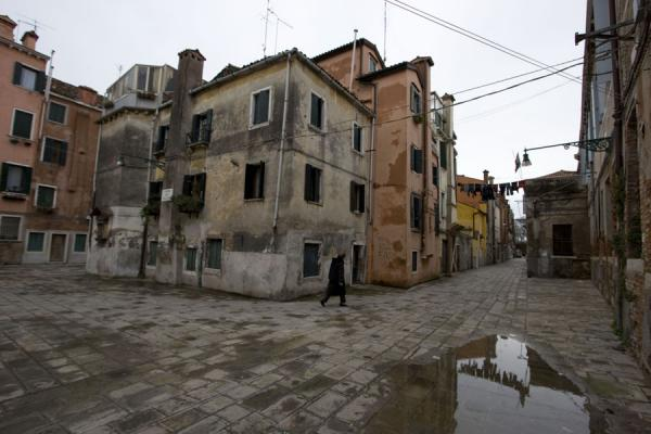 Picture of Woman in a quiet street of the Castello neighbourhood