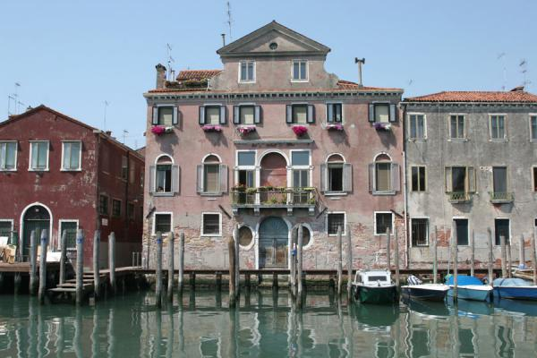 Picture of Boats and house on the wide Canale di San Pietro