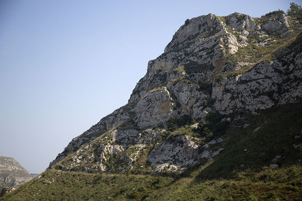 Picture of Rock formation at the upper side of the canyon with trail - Italy - Europe