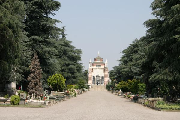 Picture of Principal street leading to the Central Ossuary in the Cimitero Monumentale