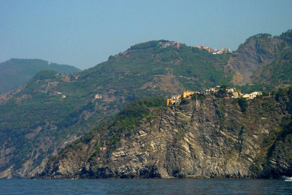 Picture of Cinque Terre (Italy): Corniglia above sea, Cinque Terre