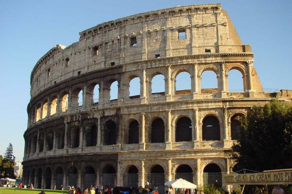 Picture of Colosseum (Italy): Colosseum from outside - Rome