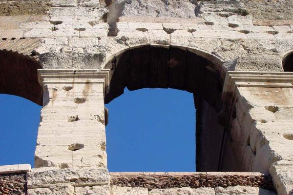 Picture of Colosseum (Italy): Detail of Colosseum - Rome