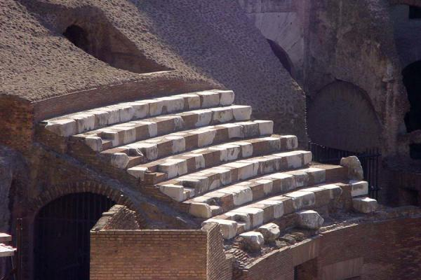 Remains of the seats | Colosseum | Italy